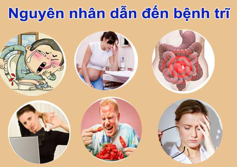 Nguyên nhân và yếu tố nguy cơ dẫn đến bệnh nhân bị trĩ