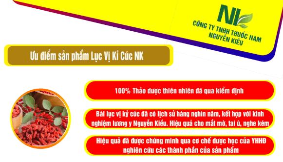 Tại sao nên sử dụng sản phẩm Lục vị Kỷ cúc NK của thuốc nam Nguyễn Kiều trong tăng cường thị lực, thính giác?