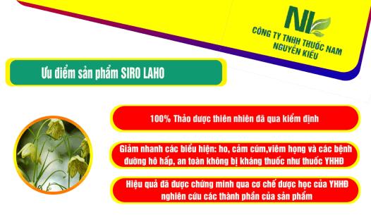 Ưu điểm của Siro LAHO