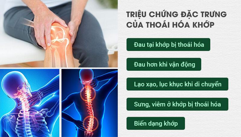Các triệu chứng lâm sàng của bệnh thoái hóa khớp