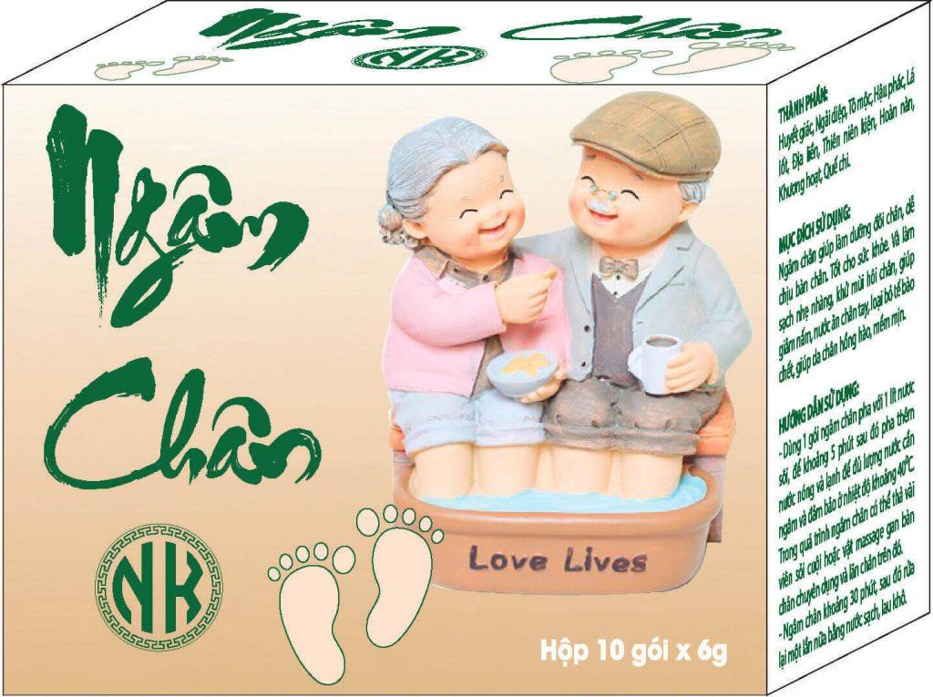 Sản phẩm Ngâm chân NK giúp lưu thông khí huyết