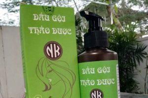 Dầu gội thảo dược NK với tác dụng hạn chế rụng tóc