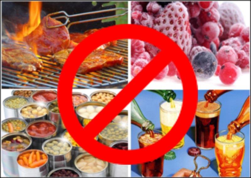 Thực phẩm không nên ăn