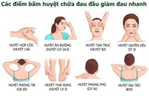 Xoa bóp bấm huyệt chữa đau đầu
