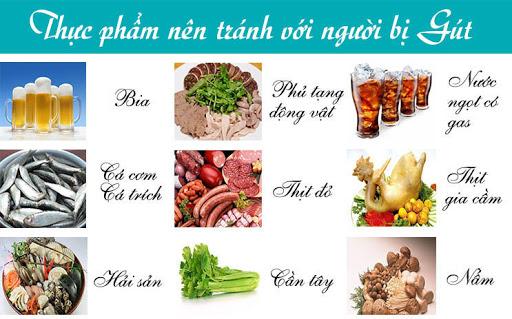 Thực phẩm nên tránh với người bị gút