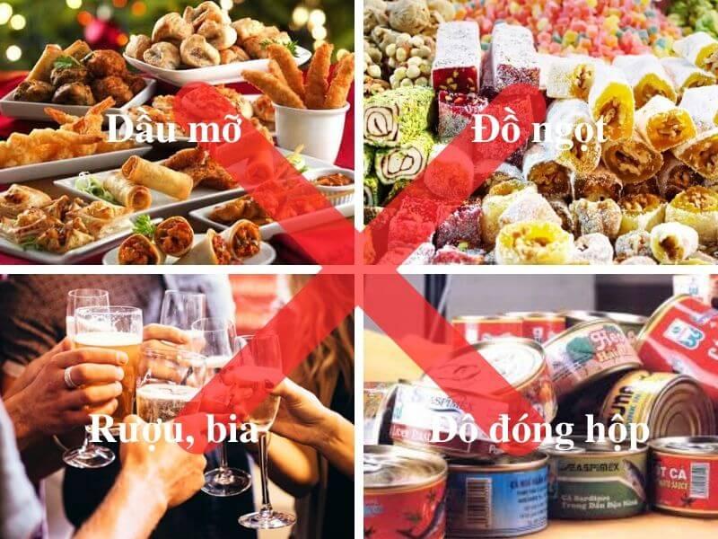 Viêm gan không nên ăn gì?