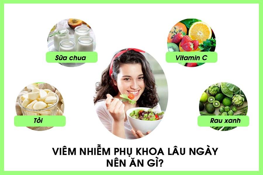 Viêm nhiễm phụ khoa nên ăn gì