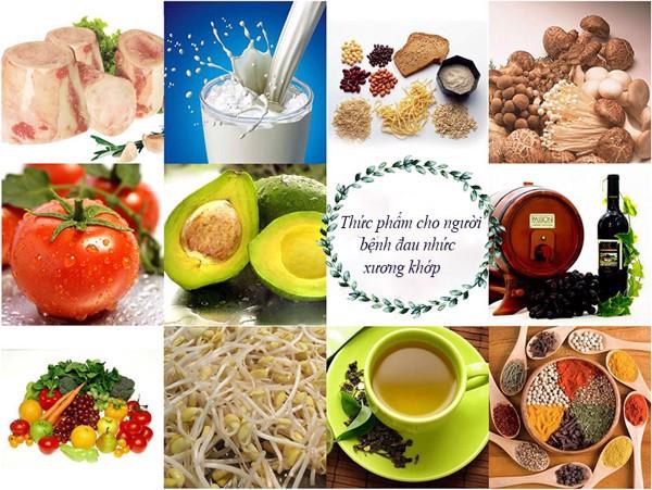 Thực phẩm dành cho người mắc bệnh cơ xương khớp