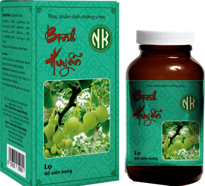 Chi tiết sản phẩm: Bài thuốc Bình huyễn NK điều trị tiền đình, mất ngủ, đau nửa đầu