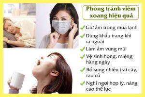 8 cách phòng tránh bệnh viêm xoang và ngừa tái phát tại nhà hiệu quả